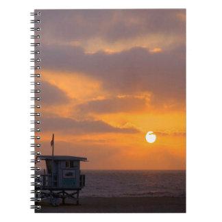 Puesta del sol Baywatch Libreta