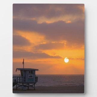 Puesta del sol Baywatch Placas De Madera