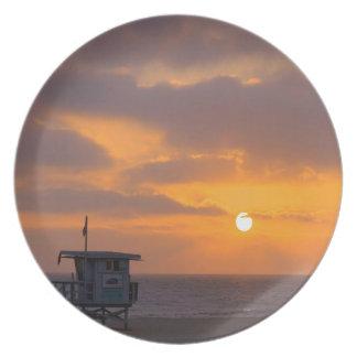 Puesta del sol Baywatch Platos