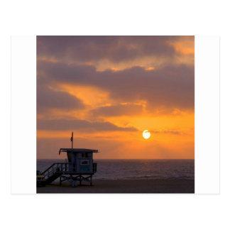 Puesta del sol Baywatch Tarjetas Postales