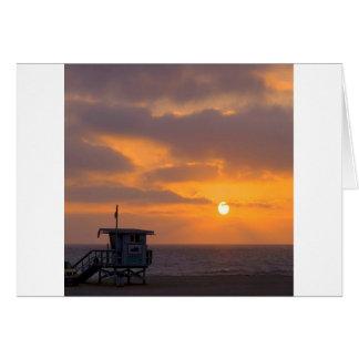 Puesta del sol Baywatch Tarjeton