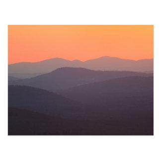 Puesta del sol blanca del bosque del Estado de la Tarjeta Postal