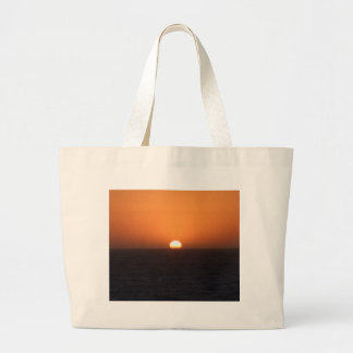 Puesta del sol bolsa tela grande