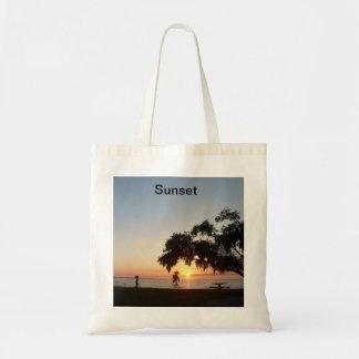 Puesta del sol bolsa de mano