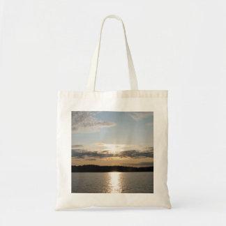 Puesta del sol bonita bolsas
