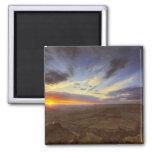 Puesta del sol, borde del sur del Gran Cañón, magn Imán Cuadrado