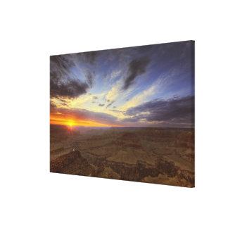 Puesta del sol, borde del sur del Gran Cañón, magn Impresiones En Lona Estiradas