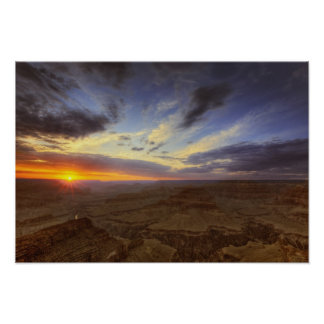 Puesta del sol, borde del sur del Gran Cañón, magn Impresiones