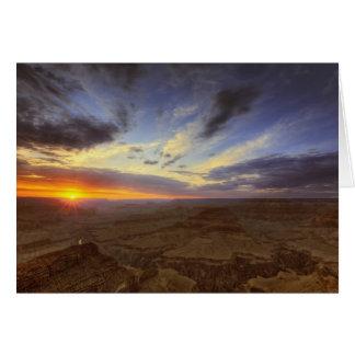 Puesta del sol, borde del sur del Gran Cañón, magn Tarjetón