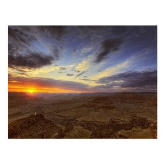 Puesta del sol, borde del sur del Gran Cañón, magn Tarjeta Postal