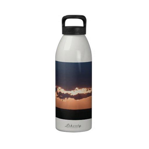 Puesta del sol búlgara botellas de agua reutilizables