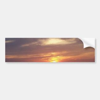 puesta del sol pegatina de parachoque