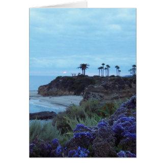 Puesta del sol California meridional del Laguna Be Felicitaciones