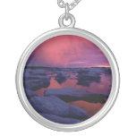 Puesta del sol Canadá de la Bahía de Hudson Collar Personalizado