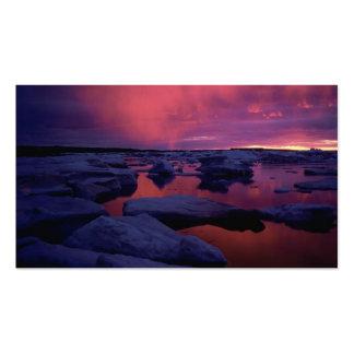 Puesta del sol Canadá de la Bahía de Hudson Tarjetas De Visita