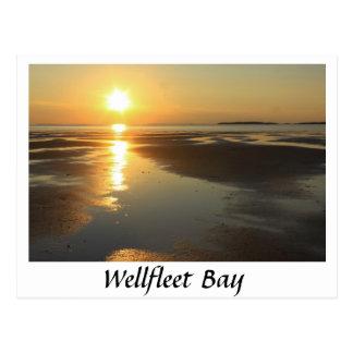 Puesta del sol Cape Cod de la bahía de Wellfleet Postales