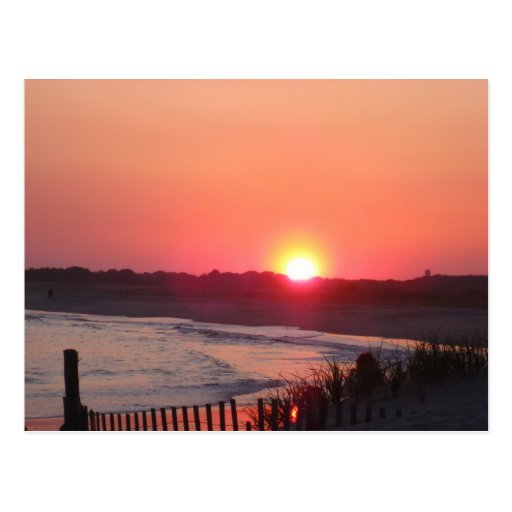 Puesta del sol * Cape May, New Jersey Tarjeta Postal