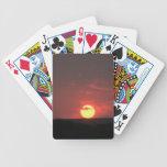 Puesta del sol cartas de juego