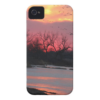 Puesta del sol Case-Mate iPhone 4 cobertura