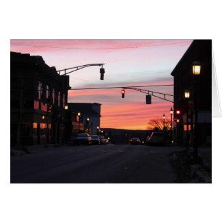 Puesta del sol céntrica de Gardner Massachusetts Tarjeta De Felicitación