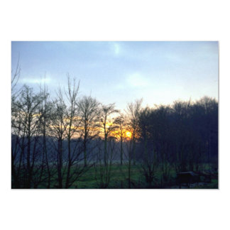 """Puesta del sol cerca de la ciudad de Boechout, Invitación 5"""" X 7"""""""