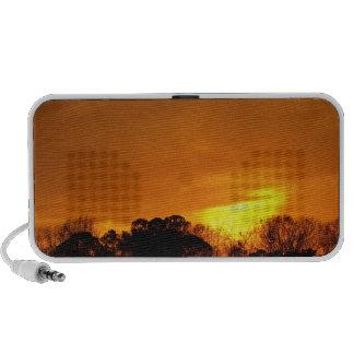 Puesta del sol cerca de NAS Oceana VA Laptop Altavoces