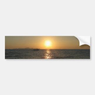 Puesta del sol… Chonburi, Tailandia de la playa de Pegatina Para Auto