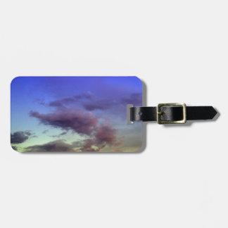 Puesta del sol/cielo y nubes de la salida del sol etiquetas para equipaje