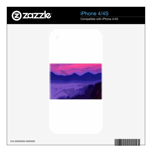 Puesta del sol colorida calcomanía para iPhone 4S
