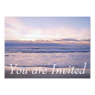 """Puesta del sol colorida de la costa de Oregon Invitación 4.5"""" X 6.25"""""""
