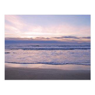 Puesta del sol colorida de la costa de Oregon Postales