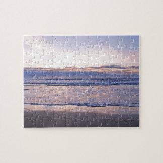 Puesta del sol colorida de la costa de Oregon Rompecabeza