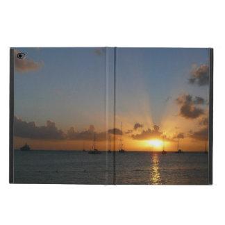 Puesta del sol con los veleros