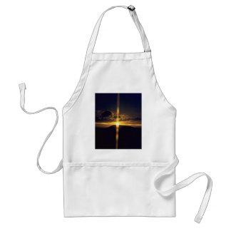 Puesta del sol cristiana delantal