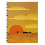 puesta del sol cuadernos
