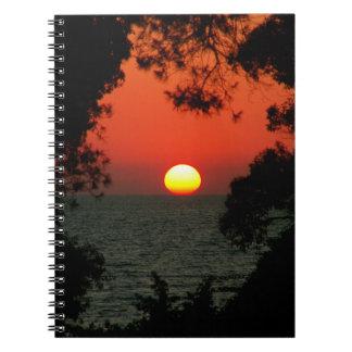 Puesta del sol dálmata libretas