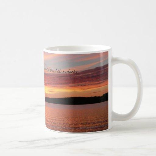 Puesta del sol de Adirondack Taza De Café