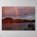 Puesta del sol de Alaska con el poster de la cita