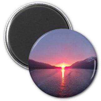 Puesta del sol de Alaska Imán Para Frigorífico