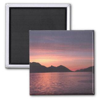 Puesta del sol de Alaska Imán De Frigorifico