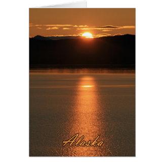 Puesta del sol de Alaska - reflejando del océano Tarjeta Pequeña