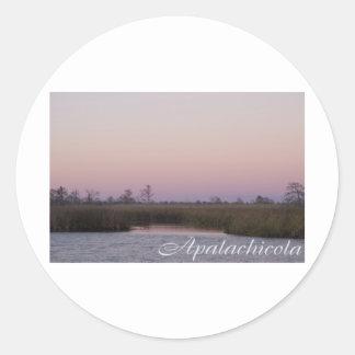 Puesta del sol de Apalachicola Pegatina Redonda
