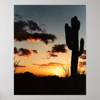 Puesta del sol de Arizona Impresiones