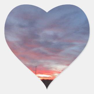 Puesta del sol de Arizona Pegatina En Forma De Corazón