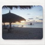 Puesta del sol de Aruba, 2006 Tapete De Ratones