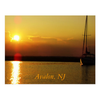 Puesta del sol de Avalon Postal