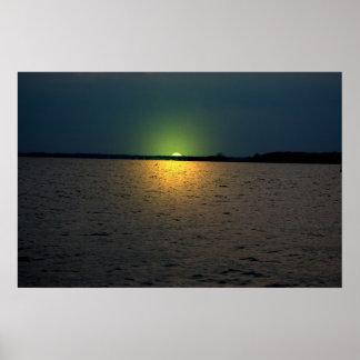 Puesta del sol de Bayside Posters