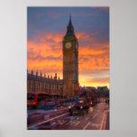 Puesta del sol de Big Ben Posters