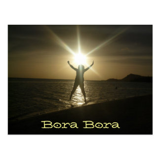 Puesta del sol de Bora Bora Postal