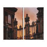 Puesta del sol de Budapest Impresión En Lona